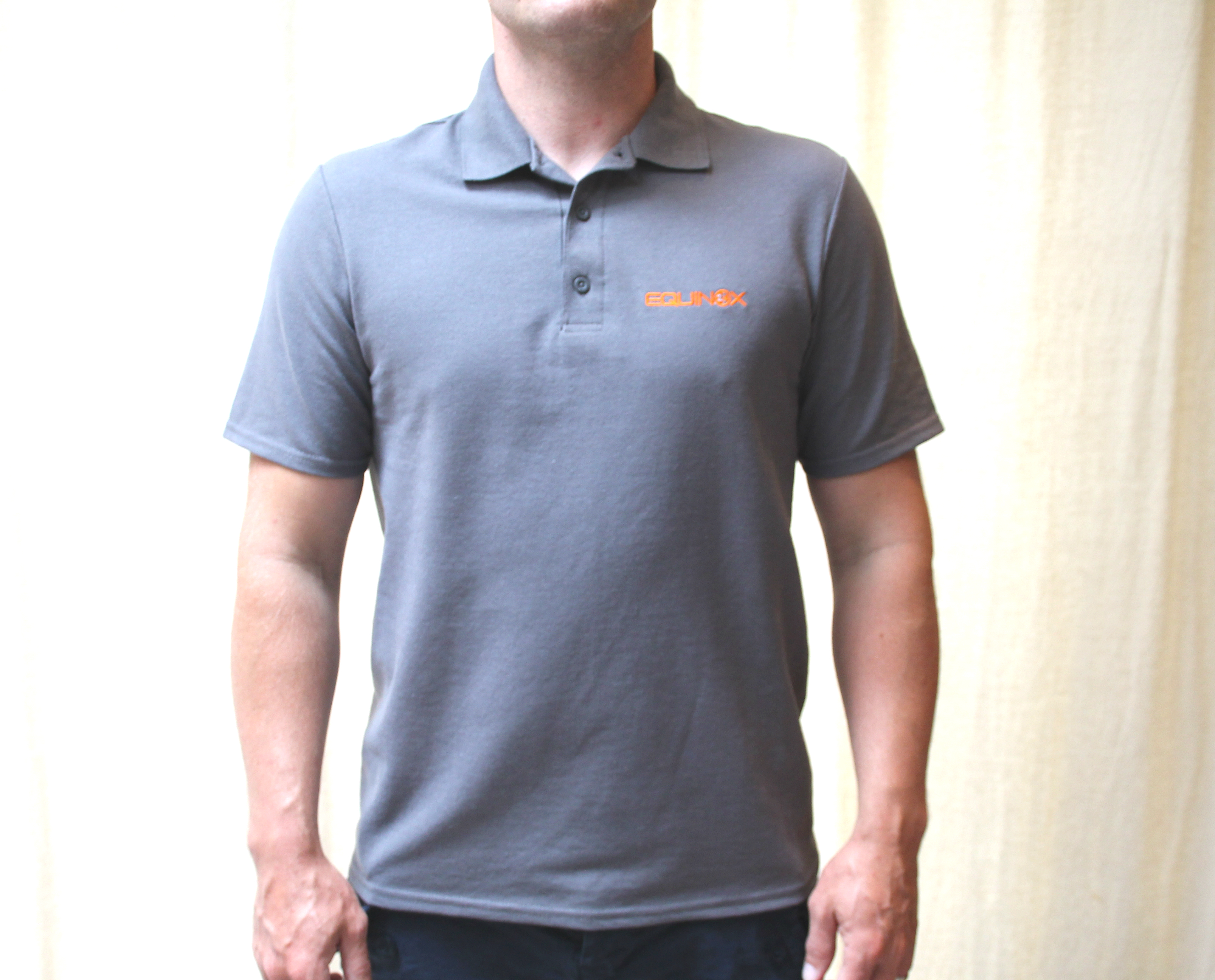 193c86c018f Grey Equinox24 Embroidered Logo Polo Shirt