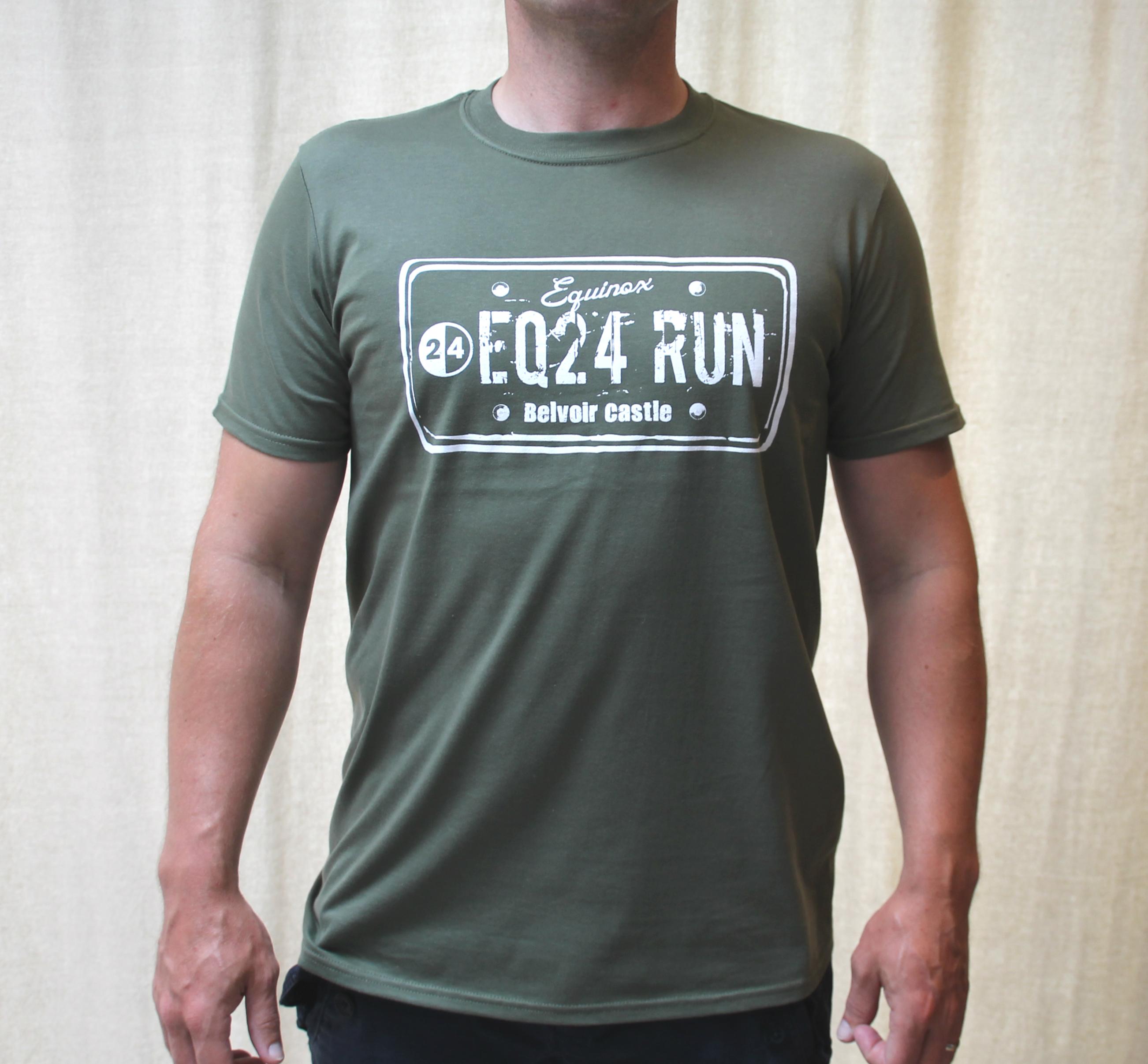 EQ24 RUN License Plate Cotton T-shirt
